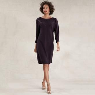 The White Company Scatter Sparkle Batwing Dress , Blackberry, 8