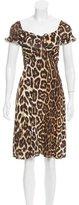 Just Cavalli Leopard Print Knee-Length Dress
