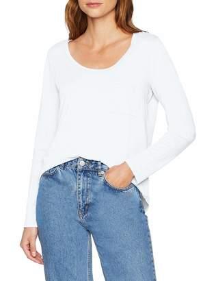 Eddie Bauer Women's Gypsum T-Shirt - Langarmshirt aus Baumwolle - S-XXL Longsleeve (White 500) M