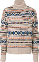 Joseph patterned turtleneck jumper