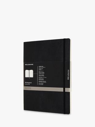Moleskine Extra Large Soft Cover Pro Notebook, Black