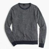 J.Crew Textured cotton crewneck sweater in stripe