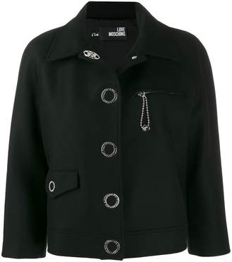 Love Moschino ornamented cropped jacket