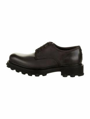 Salvatore Ferragamo Leather Round-Toe Oxfords