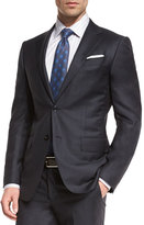Ermenegildo Zegna Graffiato Trofeo Wool Two-Piece Suit, Charcoal