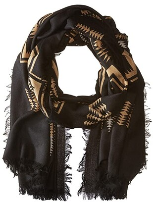 Pendleton Oversize Featherweight Wool Scarf (Harding Black) Scarves