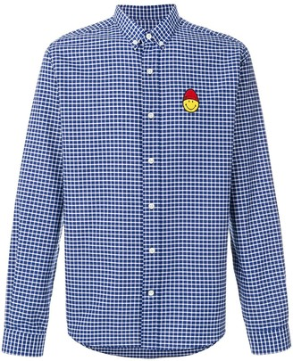 Ami Paris Button-Down Shirt Smiley Chest Patch