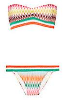 Missoni Mare Crochet Trim Strapless Bikini