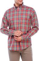 Alex Cannon Plaid Patch Pocket Sport Shirt