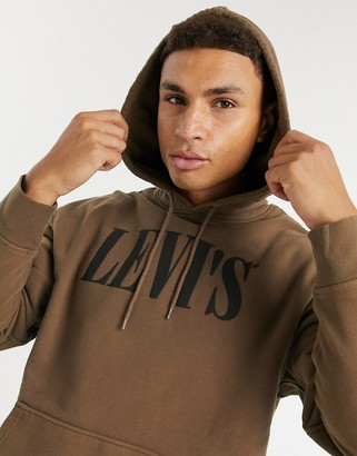 Levi's relaxed logo hoodie in black