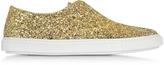 Fratelli Rossetti Gold Glitter Slip On Sneaker
