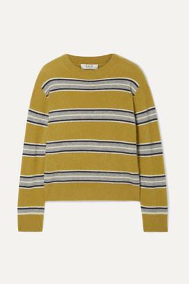 Sea Salene Striped Cashmere Sweater - Mustard