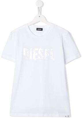 Diesel TEEN Foil Print T-shirt