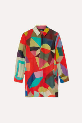 Akris Indian Summer Printed Wool Shirt - Red