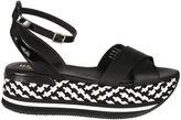 Hogan Checkered Wedge Sandals