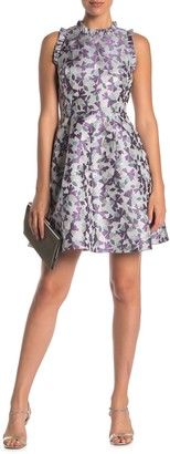 Kate Spade Floral Jacquard Fit And Flare Dress