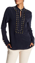 Pierre Balmain Embroidery Detail Silk Shirt