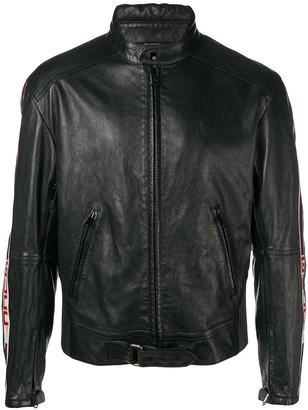 Gucci Side Logo Stripe Lambskin Jacket