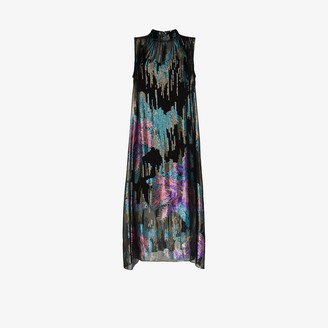 Peter Pilotto Printed Sleeveless Silk Midi Dress