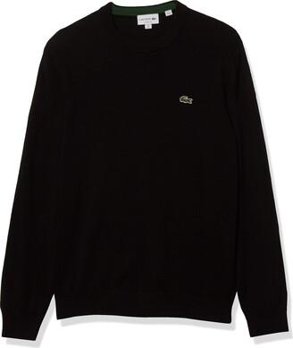 Lacoste Men's Long Sleeve Crewneck Cotton Jersey Sweater
