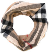 Burberry cashmere checkered scarf - kids - Cashmere - One Size