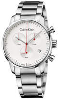 Calvin Klein CITY CHRONO GENT POLISHED/BRUSH SS BRCLT, SILV DIAL, 43MM