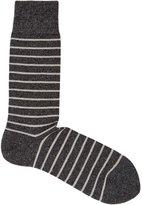 Reiss Reiss Grayson - Stripe Socks In Grey