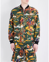 Stella Mccartney Tree-patterned Cotton Bomber Jacket