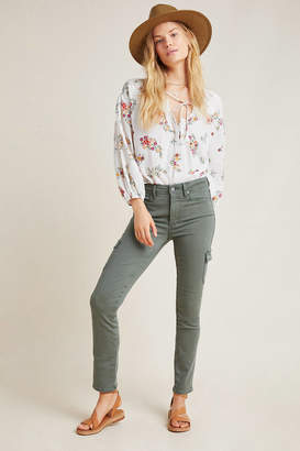 Paige Hoxton High-Rise Cargo Skinny Jeans