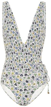 Tory Burch Floral smocked swimsuit