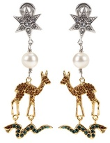 Miu Miu Crystal-embellished clip-on earrings