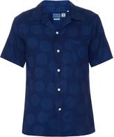 Blue Blue Japan Polka-dot print cotton shirt