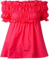 MSGM off-the-shoulder blouse - women - Cotton - 38