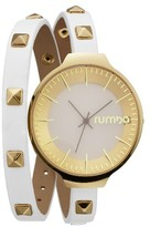 RumbaTime Women's Orchard Double Wrap Watch - White