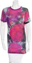 Christopher Kane Floral Printed Short Sleeve Top