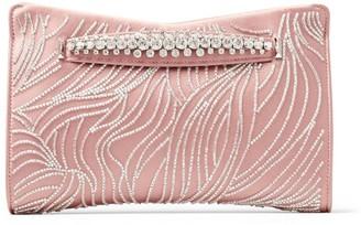 Jimmy Choo Satin Embellished Venus Clutch Bag