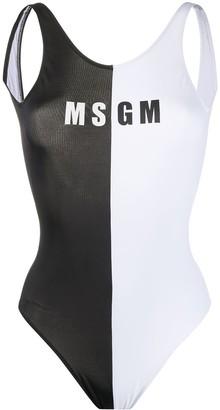 MSGM monochrome logo swimsuit