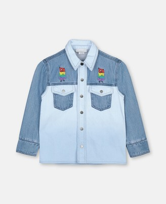 Stella Mccartney Kids Rainbow Monster Denim Shirt, Men's