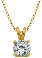 Lord & Taylor 18K Goldplated Cubic Zirconia Pendant Necklace