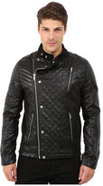 Members Only Faux Leather Quilted Motocross Jacket