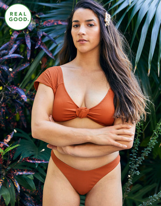 aerie Ribbed Super High Cut Cheekiest Bikini Bottom