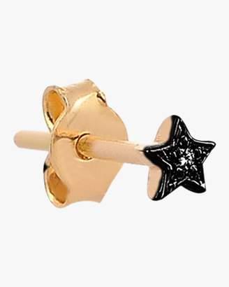 Kismet By Milka Mini Star Black Diamond Single Stud Earring