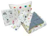 Petit Pehr Showers Crib Sheet, Swaddle, Blanket & Pillow Set