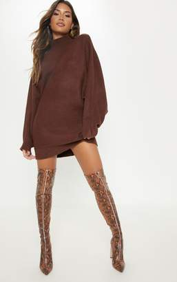SWAGGER Chocolate Oversized Jumper Dress