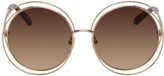 Chloé Gold and Brown Carlina Sunglasses