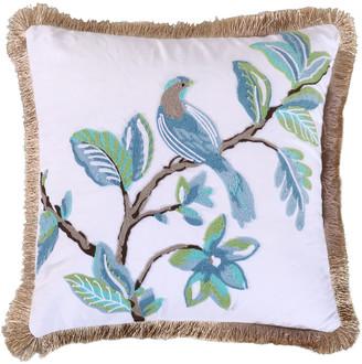 Levtex Cressida Bird Pillow with Fringe Trim