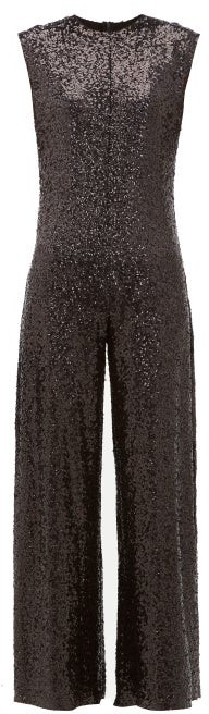 Thumbnail for your product : Norma Kamali Wide-leg Sequin Embellished Jumpsuit - Black