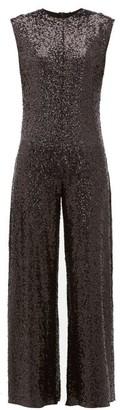 Norma Kamali Wide-leg Sequin Embellished Jumpsuit - Womens - Black