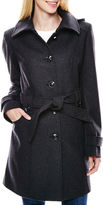 Liz Claiborne Hooded Wool-Blend Coat - Tall