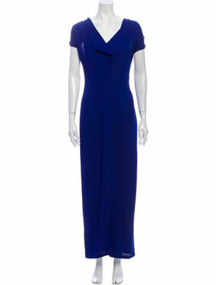 Zero Maria Cornejo V-Neck Long Dress w/ Tags Blue